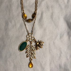 Lucky Brand bee and honeycomb necklace